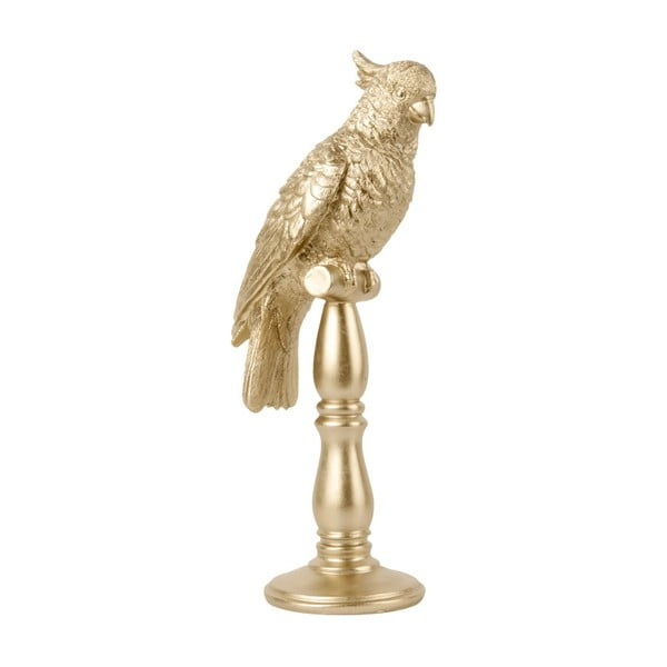Soška ve zlaté barvě PT LIVING Cockatoo, výška 40cm
