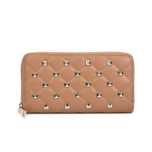 Béžová kožená peněženka Isabella Rhea Emanuele