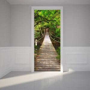 Adhezivní samolepka na dveře Ambiance Suspension Bridge, 83 x 204 cm