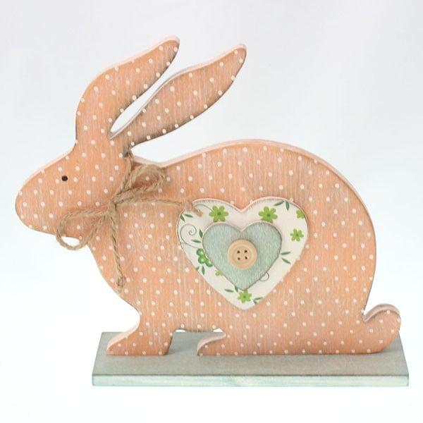 Dekorativní dřevěný zajíc, 19 cm