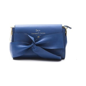 Modrá kožená kabelka f.e.v. by Francesca E. Versace Calima