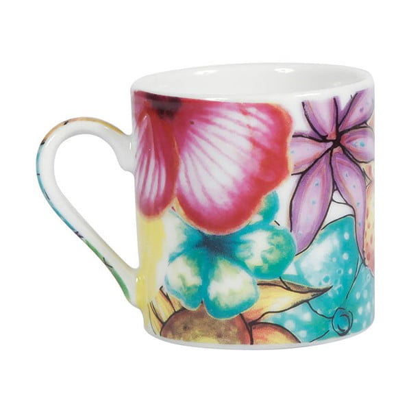 Sada 6 porcelánových hrnků Blooming