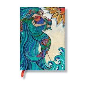 Zápisník s tvrdou vazbou Paperblanks Ocean Song, 13x18cm