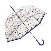 Transparentní deštník Ambiance Susino Hearts