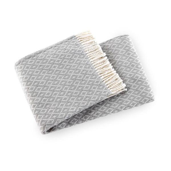 Svetlosivý pléd s podielom bavlny Euromant Agave, 140×180 cm