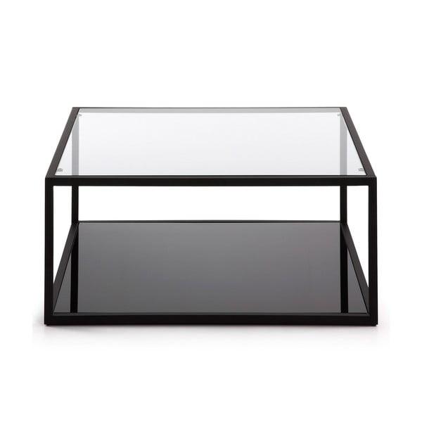 Černý konferenční stolek La Forma Green Hill, 80x80cm