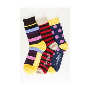 Sada 3 párů unisex ponožek Funky Steps Fini, velikost39/45