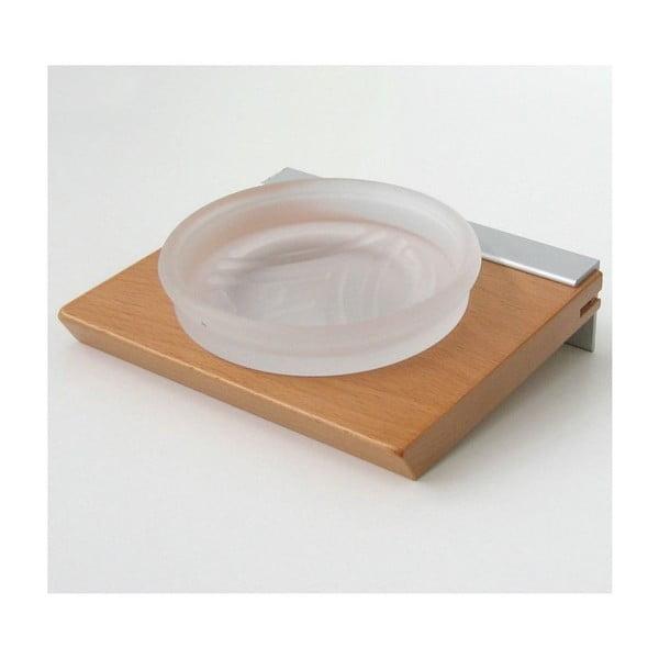 Držák na mýdlo Natural Beech, 15x5,8x14 cm