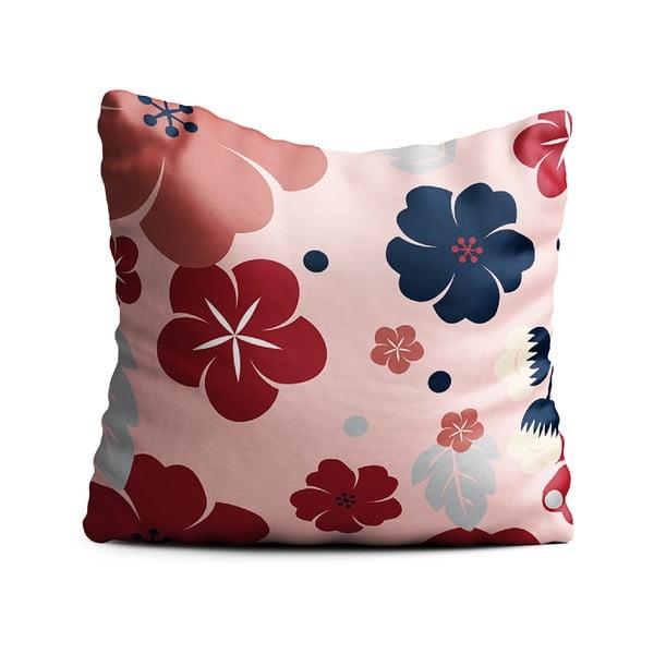 Růžový polštář Oyo home Kayla, 40x40cm
