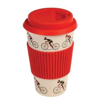 Cană de călătorie din bambus Rex London Le Bicycle, 400 ml, detalii roșii imagine