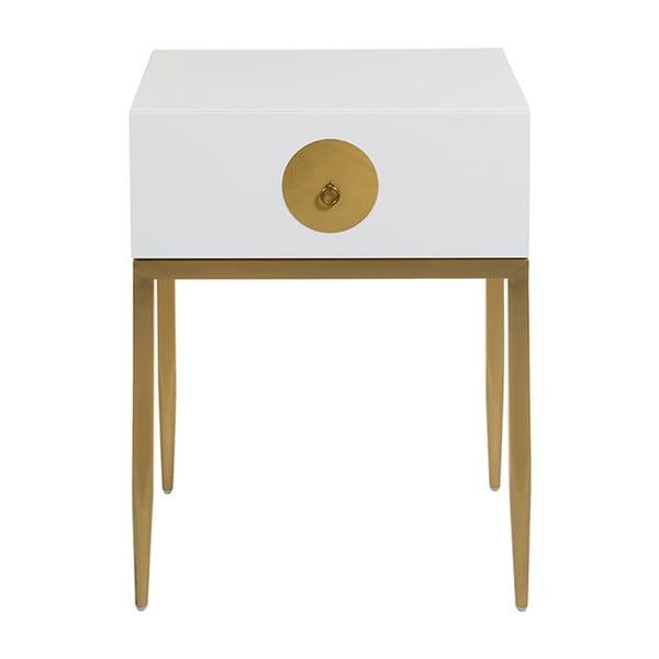 Biely nočný stolík Santiago Pons Dot