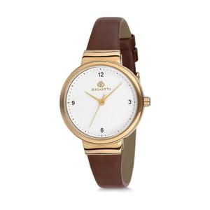 Dámské hodinky s hnědým koženým řemínkem Bigotti Milano Anette