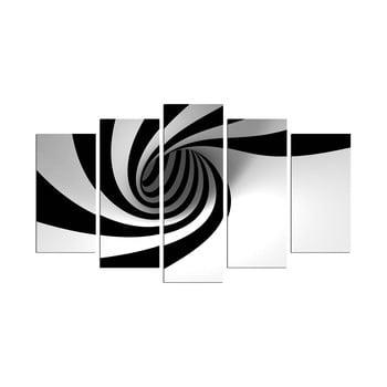 Tablou din mai multe piese Spiral B&W, 110 x 60 cm de la Unknown