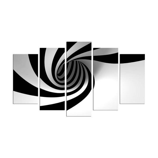 Obraz wieloczęściowy Spiral B&W, 110x60 cm