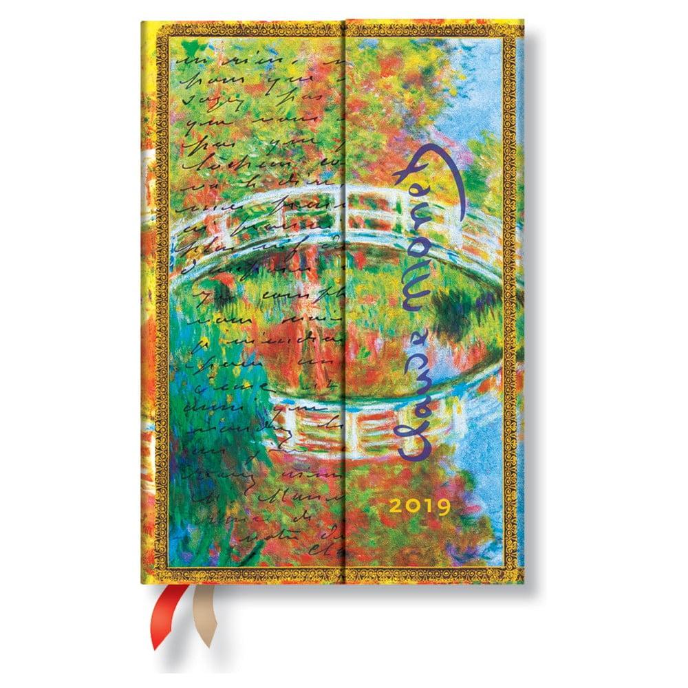 Diář na rok 2019 Paperblanks Letter to Morisot Horizontal, 160 stran