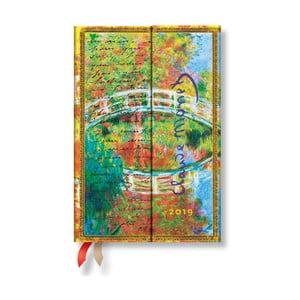 Agendă pentru anul 2019 Paperblanks Letter to Morisot Horizontal, 10x14cm
