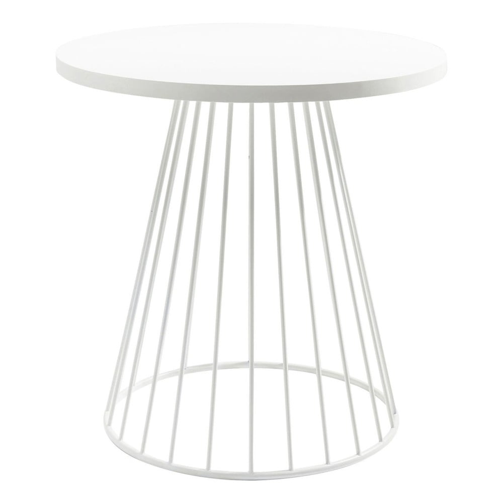 Bílý odkládací stolek Kare Design Bistro Wire