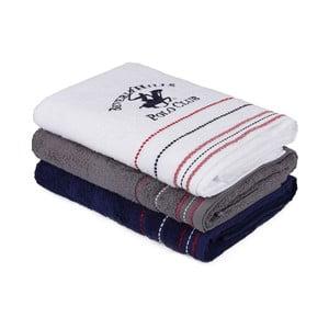 Sada tří bavlněných ručníků do koupelny, 140 x 70 cm