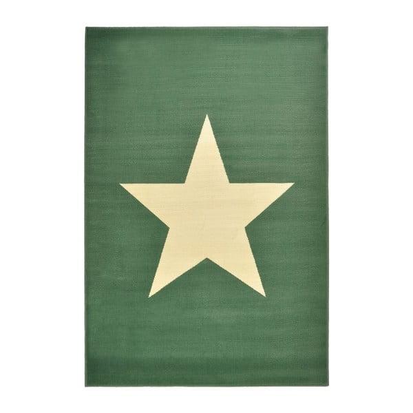 Covor Hanse Home Star, 140 x 200 cm, verde-alb
