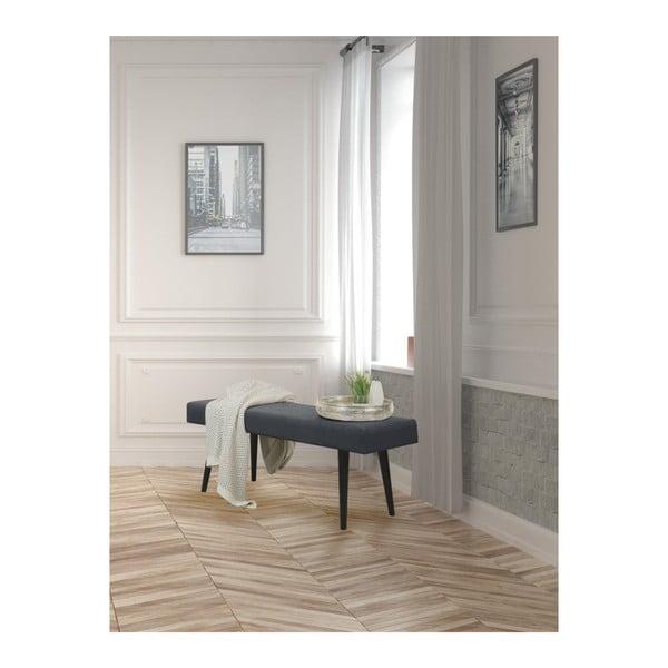 Tmavě šedá čalouněná lavice Helga Interiors Kate
