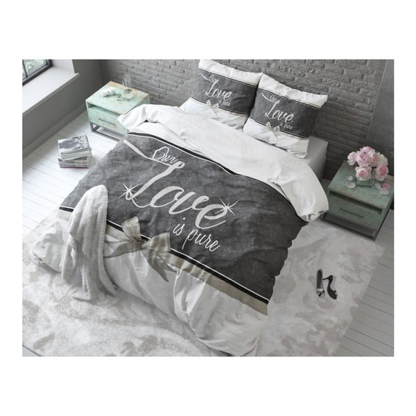 Bavlněné povlečení na dvoulůžko Sleeptime Pure Love, 200 x 220 cm