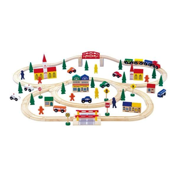 Circuit cu mașinuțe dn lemn Legler Railway