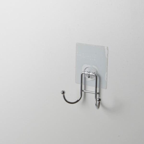 Fali akasztó krómozott acélból, 2 aksztóval - Compactor