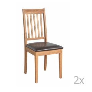Set 2 scaune din lemn de stejar  Folke Ella, culoare naturală