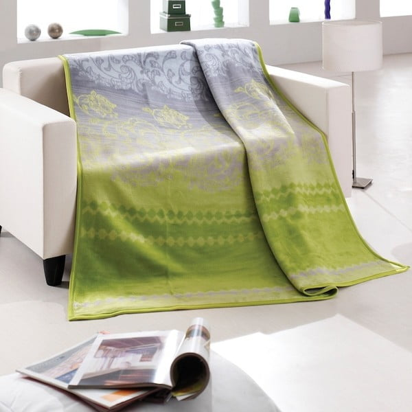Přehoz Alpino, zelený dekor