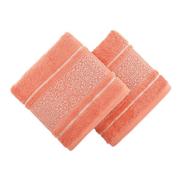 Sada 2 oranžových ručníků Ceramica, 30x50cm