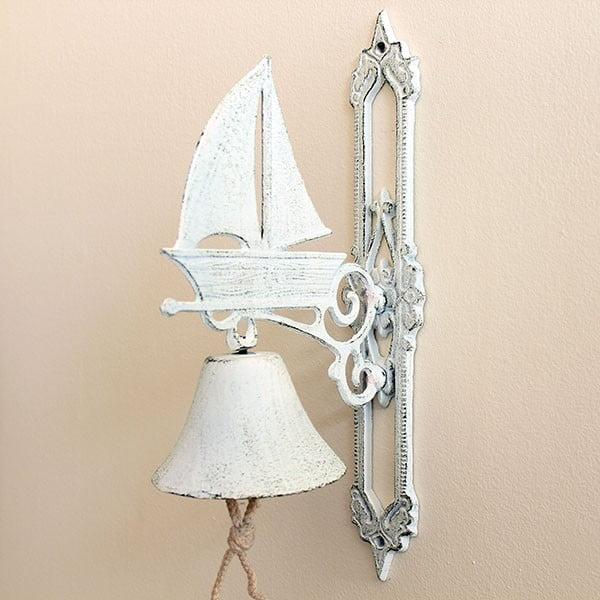 Litinový zvonek Vintage White