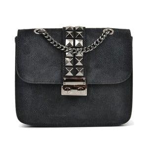 Černá kožená kabelka Mangotti Bags Mia