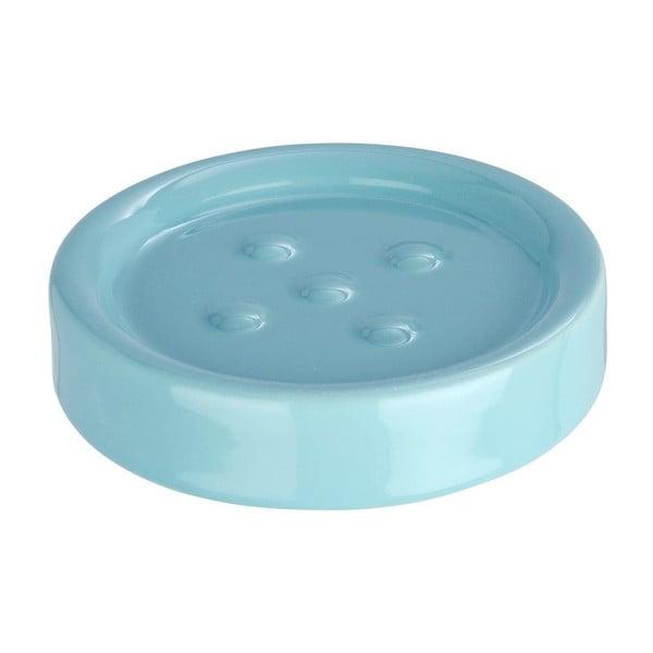 Světle modrá podložka pod mýdlo Wenko Polaris Blue