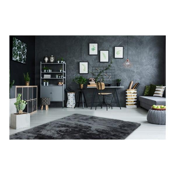 Černý ručně vyráběný koberec Obsession My Curacao Cur Stee, 60 x 110 cm