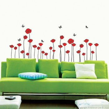 Set autocolante Ambiance Red Poppy Flowers