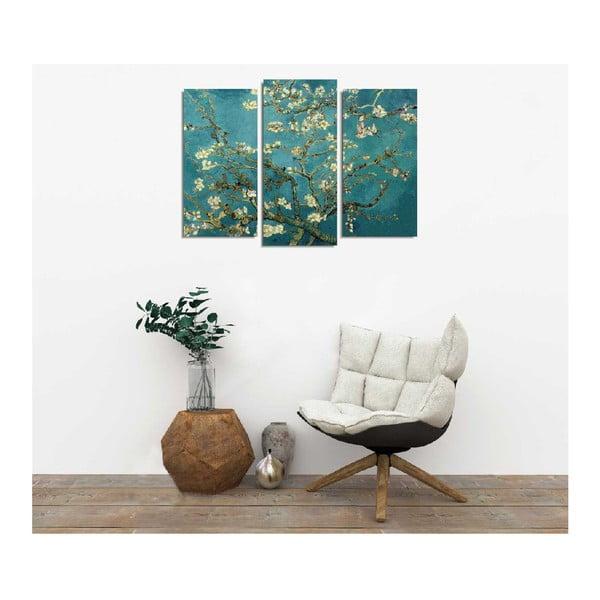 3dílná nástěnná reprodukce Vincent Van Gogh Almond Blossom
