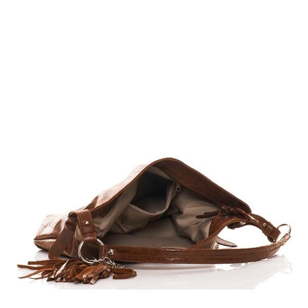 Kožená kabelka Hobo Brown