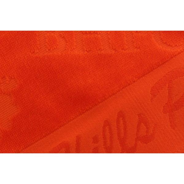 Oranžový bavlněný ručník BHPC Velvet, 50x100 cm