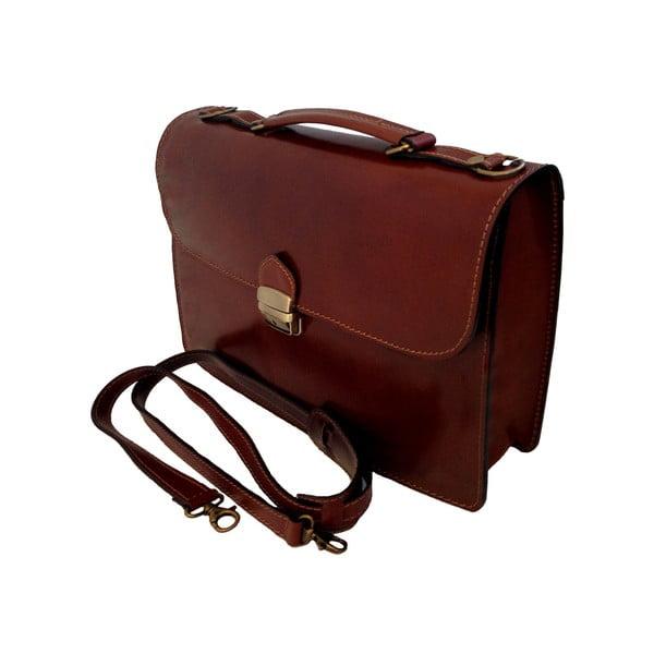 Kožená kabelka/kufřík Brachetto, čokoládová
