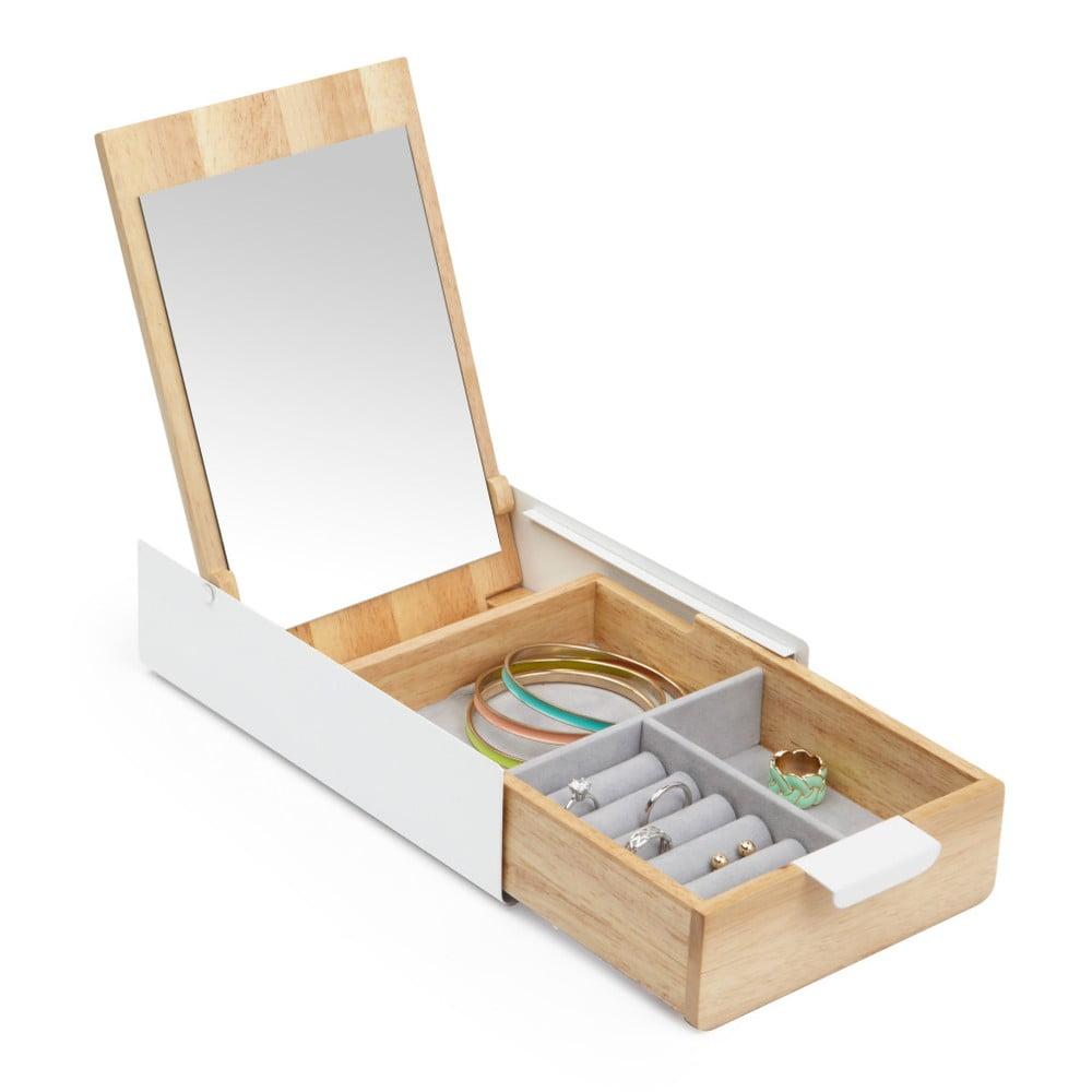 Dřevěná šperkovnice se zrcadlem Umbra