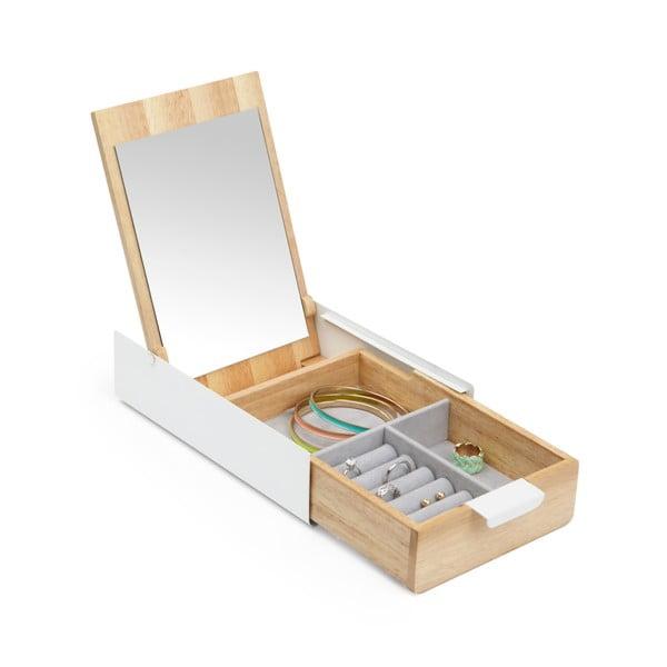 Drewniana szkatułka z lustrem Umbra