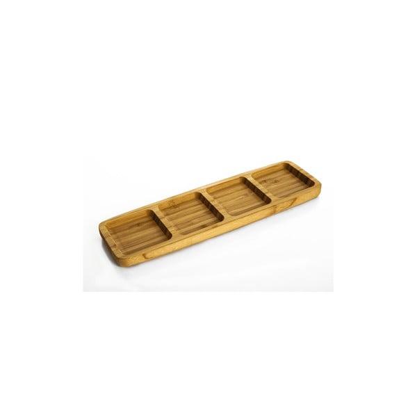 Bambusová servírovací miska Bambum Ganberi, 33 x 10 cm