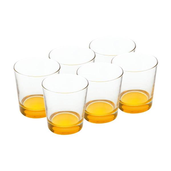 Sada skleniček 340 ml, žluté