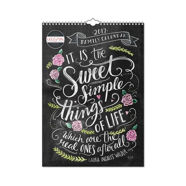 Rodinný A3 kalendář Portico Designs Lily & Val