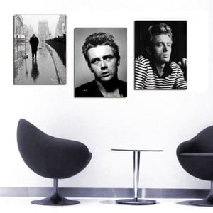 3dílný obraz James Dean, 45x90 cm