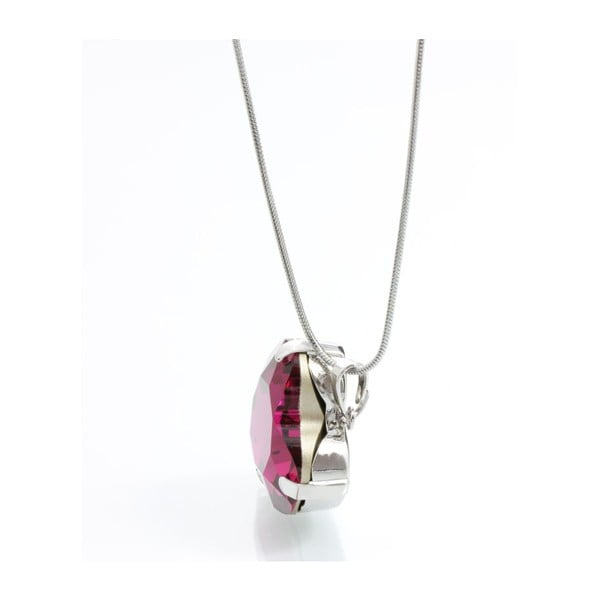 Náhrdelník Swarovski Heart Fuchsia, 45 cm