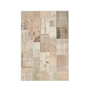 Béžový ručně vázaný vlněný koberec Linie Design Century, 140x200cm