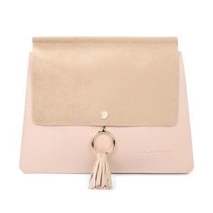 Pudrově růžová kabelka z eko kůže Beverly Hills Polo Club Sylvia