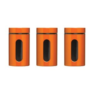 Set 3 cutii metalice Premier Housewares Orange Jars