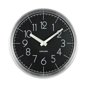 Černé nástěnné hodiny Karlsson Convex